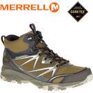 【MERRELL 美國 男款 高筒 CAPRA BOLT MID GORE-TEX 登山鞋 〈深橄欖綠〉】休閒鞋/登山鞋/運動鞋/ML37411★滿額送