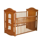 Baby City 動物熊搖擺中大床(柚木色)+床墊+7件寢具組[衛立兒生活館]