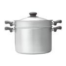 【柳宗理設計】不鏽鋼雙耳高鍋/霧面-22CM/附不鏽鋼蓋及濾網
