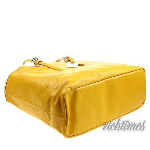 【裕代 LONGCHAMP】LM Cuir 系列托特包 - 黃色 LC0C6209