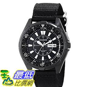 [美國直購] 手錶 Casio Mens AMW110-1AV Classic Stainless Steel Watch With Black Nylon Band