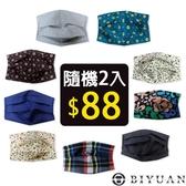隨機2件88 【OBIYUAN】口罩 收納套 可清洗 重覆 替換 MIT環保口罩套 【SP995】