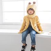 《QA0532》蓬鬆暖感毛球造型連帽羽絨外套 OrangeBear