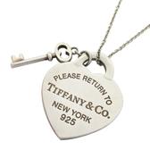 Tiffany & Co 蒂芬妮 Return to Tiffany系列925純銀愛心造型迷你鎖頭組墜飾項鍊