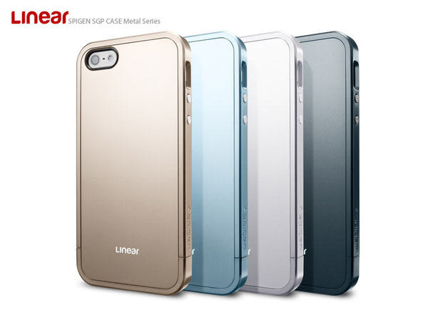 【Apple精品配件】SGP Apple iPhone 5/5s/5SECase Linear Metal 邊框 同色系 三件式 保護殼