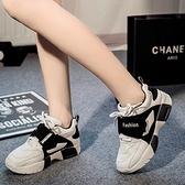 氣墊鞋-韓版時尚休閒舒適厚底女運動鞋3色71l28【時尚巴黎】