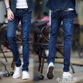 牛仔長褲 微彈力牛仔褲男直筒 薄款青年修身夏天長褲 休閒褲子春季 小艾時尚