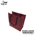 手提袋-編織方袋(S)-黑紅千鳥-03C...