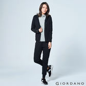【GIORDANO】女裝吸濕快乾運動休閒外套(09 標誌黑)