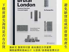 二手書博民逛書店Brutal罕見London Construct Your Own Concrete Capital 建築紙模