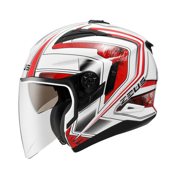 ZEUS瑞獅安全帽,ZS-613B,無帽沿版,AJ6/白紅