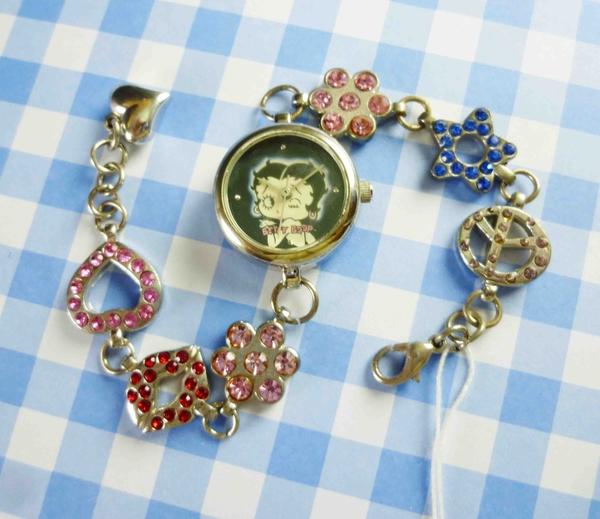 【震撼精品百貨】Betty Boop_貝蒂~造型鍊錶-黑親吻