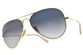 RayBan 偏光太陽眼鏡 RB3025 00178 (金-漸層藍鏡片) 熱門時尚款 偏光墨鏡 # 金橘眼鏡