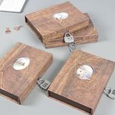 密碼本子小學生多功能筆記本帶鎖兒童秘密日記本成人韓國小清 為愛居家