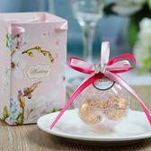 8個裝 歐式喜糖盒水晶球手提拎袋結婚回禮伴手禮盒【步行者戶外生活館】