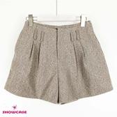 【SHOWCASE】時尚厚磅高腰雙褶寬口褲裙(卡)