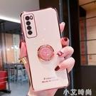 華為nova7手機殼創意時鐘指環支架nova7se全包攝像頭保護nova7pro電鍍防摔軟殼 小艾新品