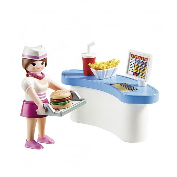 摩比積木 playmobil 彩蛋 速食送餐員