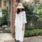 【GZ61】韓國前後字母印花寬鬆連身裙 ...