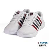 K-SWISS 新竹皇家 Proactive 白色 皮質 藍紅線 休閒鞋 男女款 NO.B0365-I9433