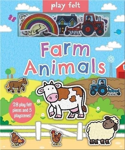 【幼兒動物農場認知遊戲書】PLAY FELT :FARM ALNIAMLS/ 不織布黏貼書