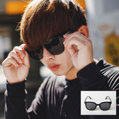 質感簡約大框純黑墨鏡太陽眼鏡‧附眼鏡盒【NB0642J】