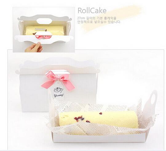 27cm 白色 生乳捲蛋糕盒 彌月蛋糕盒 蛋糕捲紙盒 奶凍捲盒 禮品盒 長條蜂蜜蛋糕盒 附船盒C058