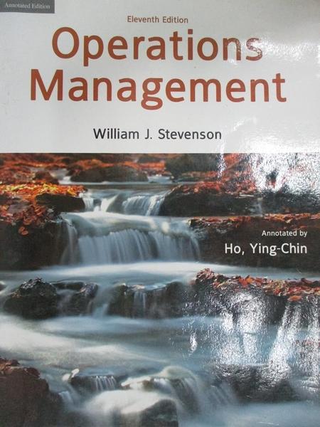 【書寶二手書T8/大學商學_D5Q】Operations Management11/e_Stevenson