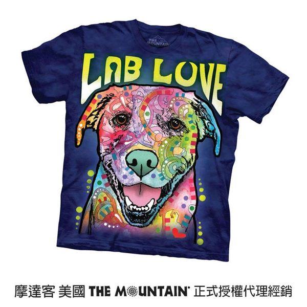 【摩達客】(預購)(大尺碼4XL、5XL)美國進口The Mountain 彩繪愛拉不拉多犬 純棉環保短袖T恤(10416045120a)