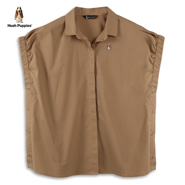 Hush Puppies 造型襯衫 女裝鬆緊袖口側排鈕釦造型襯衫
