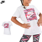 Nike Kid's Tee 大童裝 白 粉 運動短袖 短T 棉T 慢跑 健身 T-Shirt 短袖衣服 AR1731100
