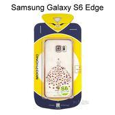 優雅系列電鍍邊框透明殼 [蝶舞] Samsung G9250 Galaxy S6 Edge