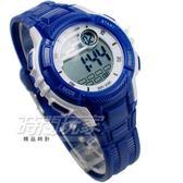 MINGRUI 企鵝 小巧輕便多功能 計時碼錶 電子錶 學生錶 兒童手錶 女錶 日期 M8201深藍