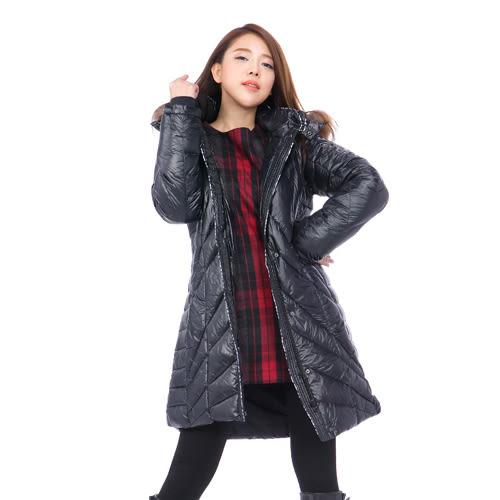 女款寵愛款羽絨長大衣 5019