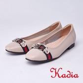 kadia.氣質款 親膚舒適牛皮包鞋(9017-00米色)
