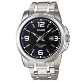 【CASIO】 專業時尚紳士不鏽鋼腕錶-黑面(MTP-1314D-1A)