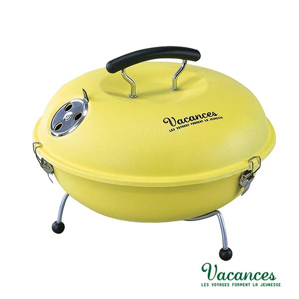 【日本 VACANCES】野餐度假 BBQ 輕量 黃色 馬卡龍造型烤肉爐  / 烤肉 烤箱