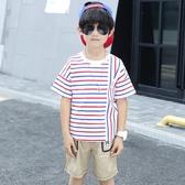 男童套裝夏裝2019新款兒童夏季短袖男孩韓版6洋氣7潮8帥氣9歲TA7536【極致男人】