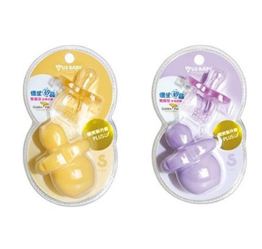 優生 矽晶安撫奶嘴升級版(雙扁)S (橘/紫顏色隨機出貨)【德芳保健藥妝】