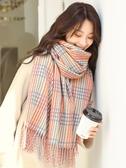 格子圍巾女秋冬韓版百搭學生加厚保暖可愛少女心披肩兩用冬天 新年禮物