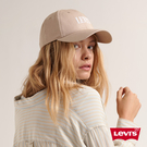 Levis 男女同款 可調式排扣棒球帽 / Serif Logo 刺繡 / 淺卡其
