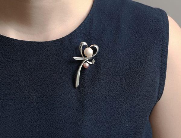 天然珍珠胸針 925純銀 D&D 幸運如願 馥郁花草系列