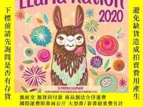二手書博民逛書店Llama罕見Nation 2020: 16 Month Cal