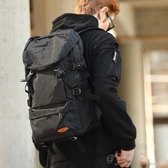 大容量雙肩包男行李旅遊背包簡約休閒書包潮戶外輕便登山女旅行包 町目家