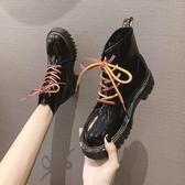 馬丁靴女秋2021新款百搭時尚炫酷潮流鐳射亮片短靴帥氣機車中筒靴 8號店