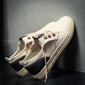 帆布鞋男夏季韓版潮流百搭潮鞋透氣亞麻布鞋子男生板鞋休閒小白鞋 晴天時尚館