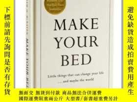 二手書博民逛書店整理你的牀鋪罕見英文原版 Make Your Bed 小事能改變