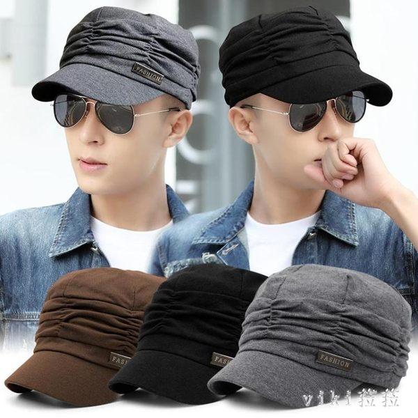 中大尺碼鴨舌帽褶皺貝雷帽子女堆堆帽夏薄款平頂帽男遮陽 nm4876【VIKI菈菈】