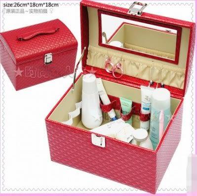 化妝盒 首飾盒收納包【藍星居家】