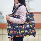 旅行折疊購物袋防水單肩輕便